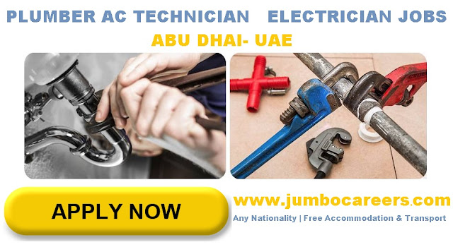 Electrician jobs salary in Abu Dhabi. AC Technician jobs in Abu Dhabi