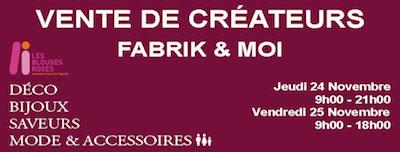 Affiche vente créateurs fabrik&Moi- Le Chesnay