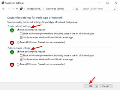 cara setting firewall windows 10