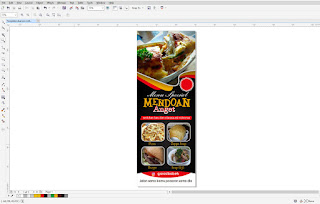 Template xbanner rollbanner fastfood cdr