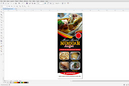 Template coreldraw desain xbanner dan rollbanner tema resto fastfood ataupun cafe