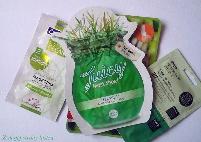 maseczka do twarzy z ekstraktem z drzewa herbacianego