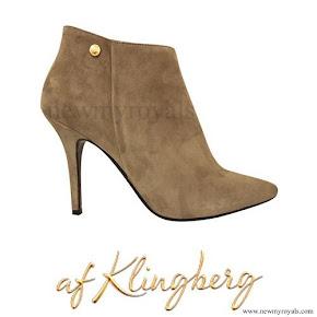 Crown Princess Victoria wore af Klingberg Rakel Taupe Suede Boots