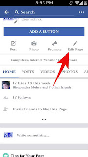 Fb page template kese change kare 2