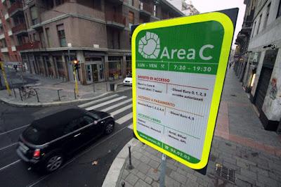 Nuove tariffe Area C per gli NCC di Milano