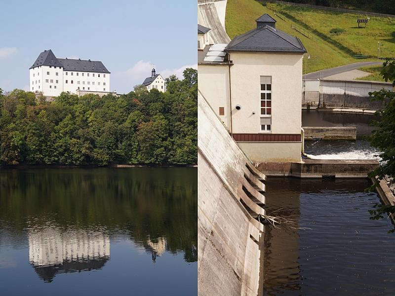 Schloss Burgk + Talsperre Burgkhammer