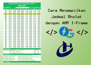 Jadwal Sholat AMP iframe