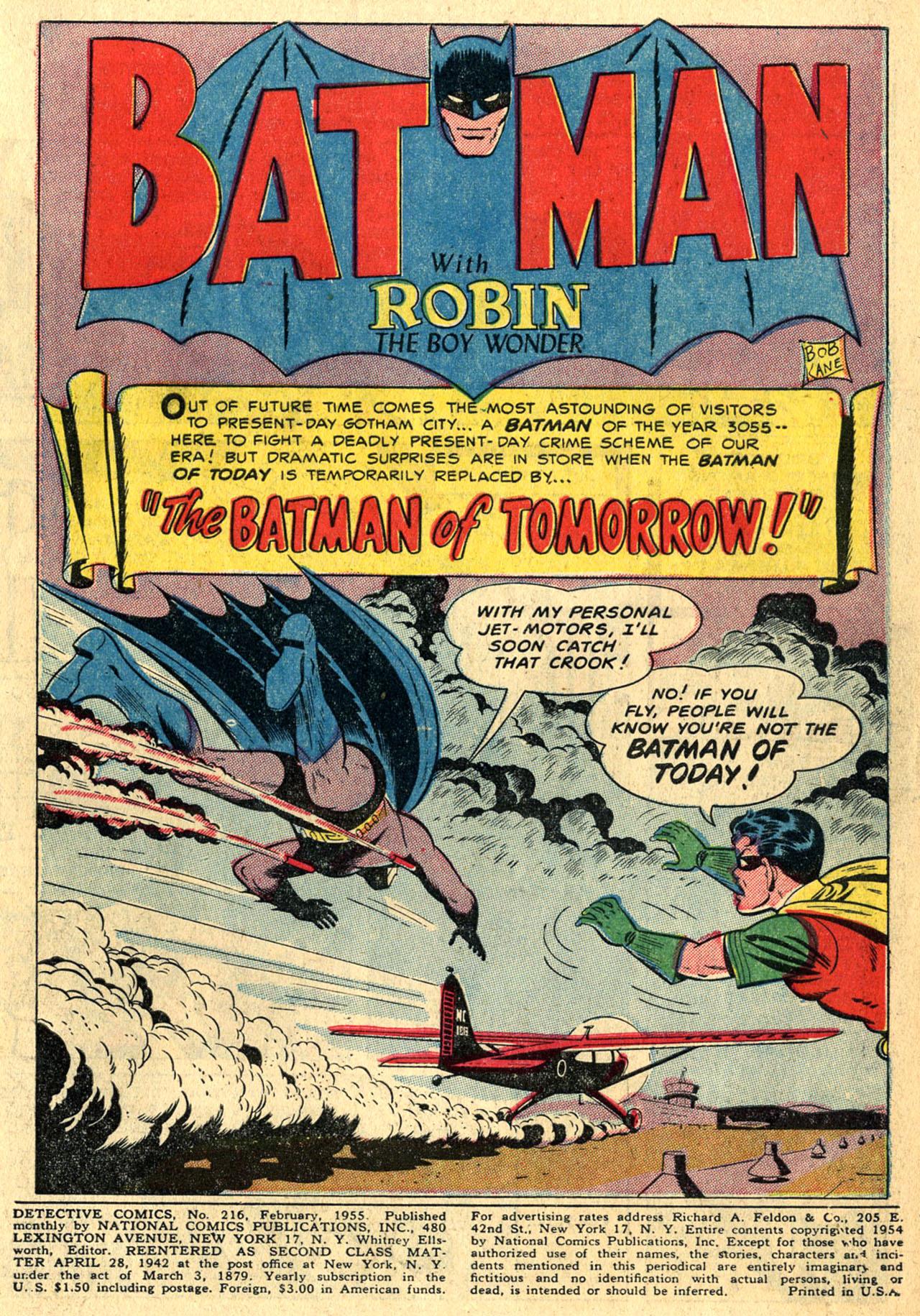 Read online Detective Comics (1937) comic -  Issue #216 - 3
