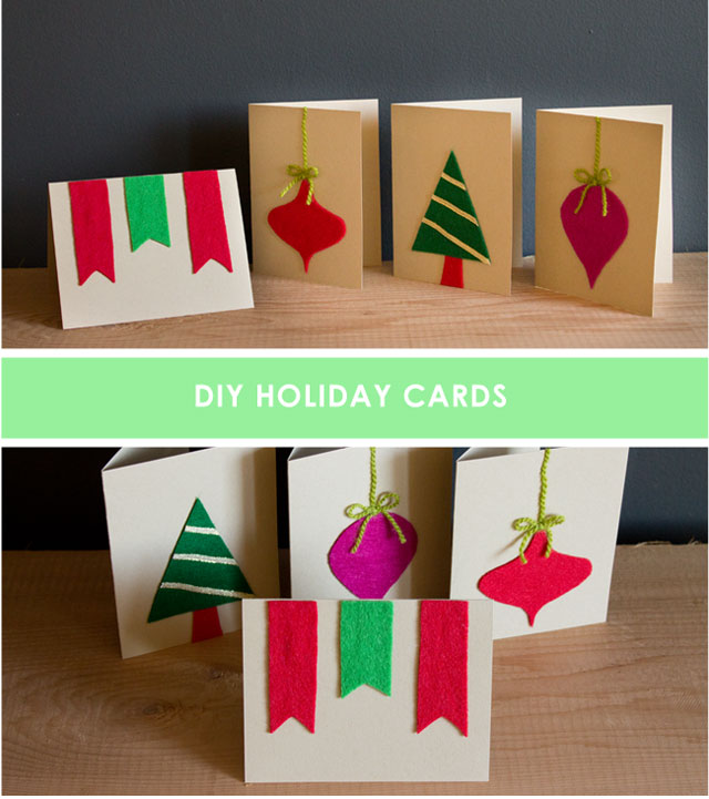DIY Felt Christmas Cards for Kids