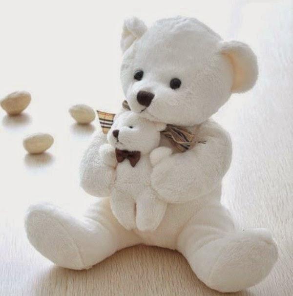 Boneka beruang putih lucu banget