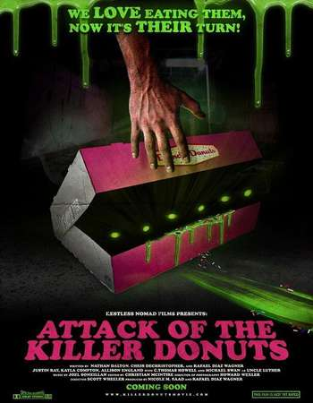 Poster of Movie Attack of the Killer Donuts 2016 Dual Audio IMDB RATING 8.0