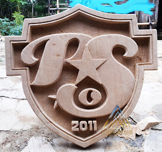 ornamen batu alam paras jogja, batu putih Logo club sepak bola PSO