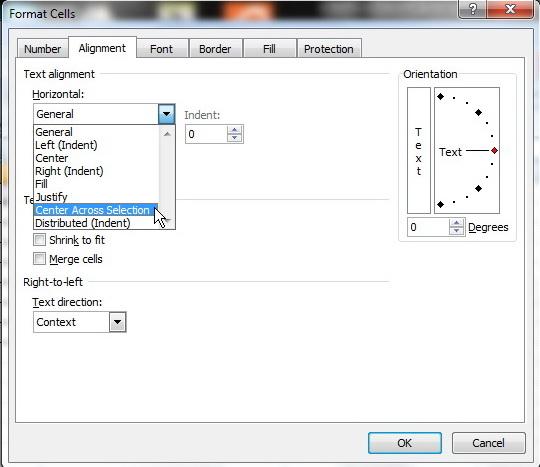 Kotak dialog Format Cell