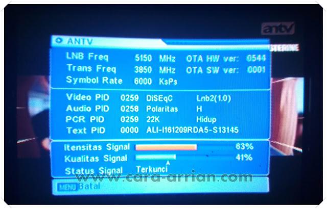 Frekuensi Terbaru Siaran ANTV, TRANS TV dan TRANS 7 di TELKOM 4v