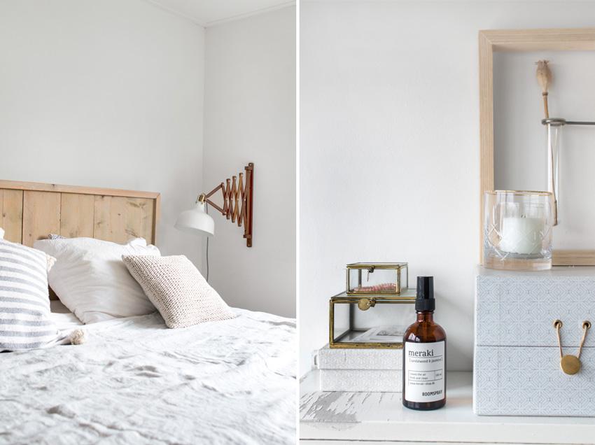 dormitorio estilo nórdico cabecero diy