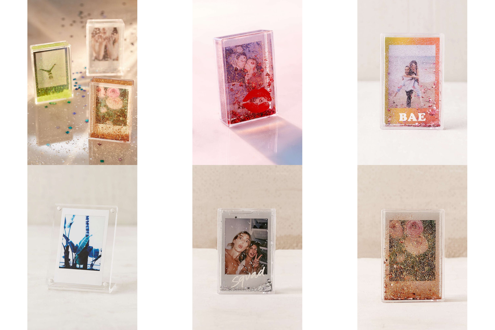 Urban Outfitters Mini Instax Glitter Picture Frame 4 Reg 6