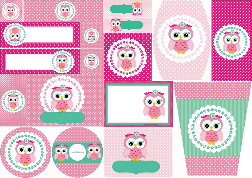 Pink Owl Sweet 16 Free Printable Candy Bar Labels and Invitations – Free Printable Sweet 16 Birthday Invitations