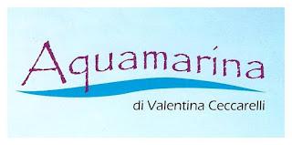 Logo ed indirizzo del Centro Estetico Aquamarina Calci