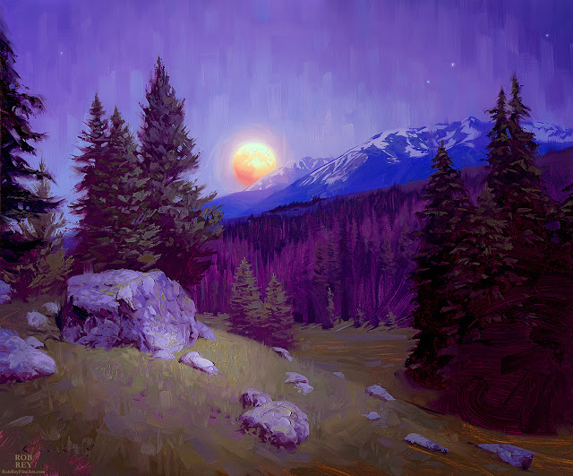 Mountain Moonrise by Rob Rey - robreyfineart.com