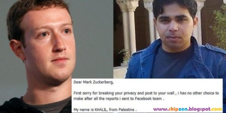 100 Juta Kepada Khalil Shreateh Setelah Meretas Facebook dan Facebook Hanya Minta Maaf