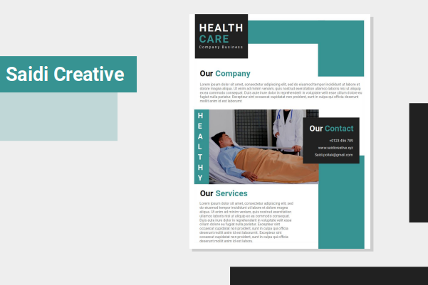 Healthcare Business Flyer Template Free Download on Microsoft File
