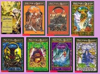 portadas de los libros de la saga deltora