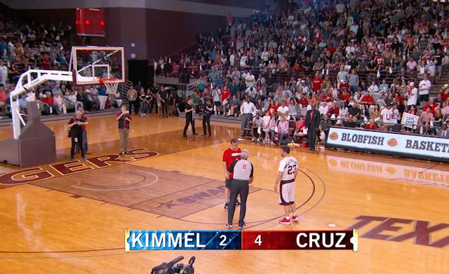 Ted Cruz beats Jimmy Kimmel in charity basketball game