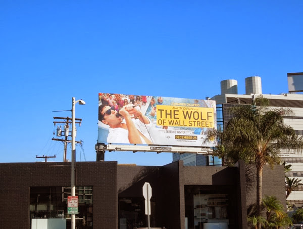 Wolf of Wall Street film billboard