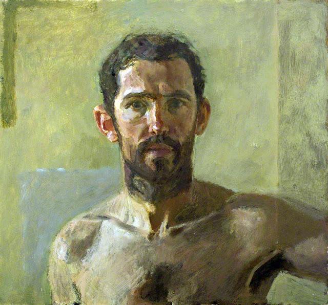 David Caldwell, Self Portrait, Portraits of Painters, Fine arts, Portraits of painters blog, Paintings of David Caldwell, Painter David Caldwell