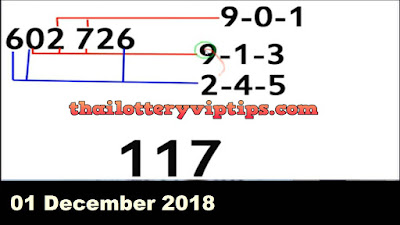 Thailand lottery exclusive hot VIP 3UP tip paper 01 December 2018