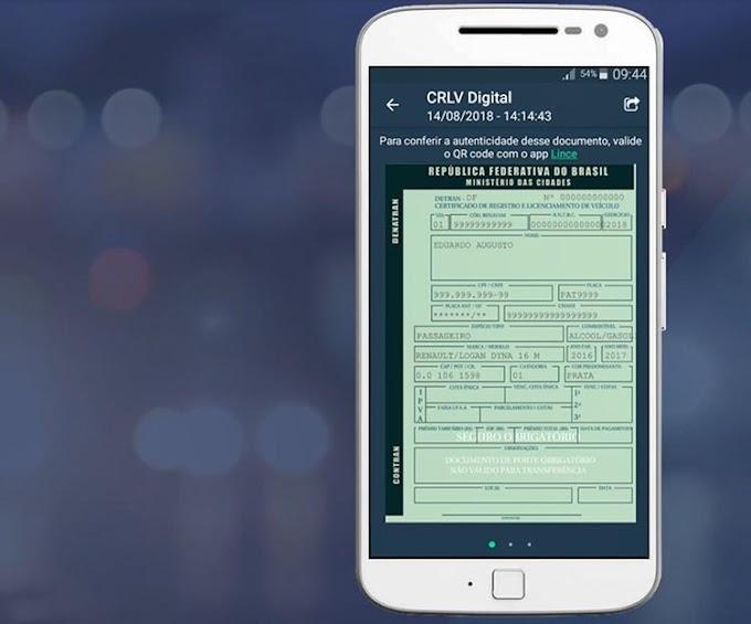 Documento de veículos digital é lançado no DF