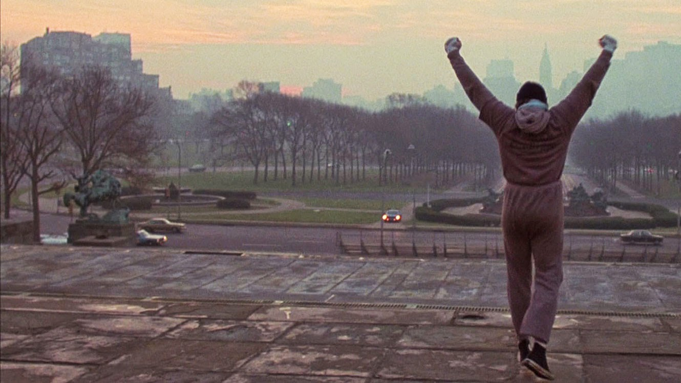 Rocky stairs, Gonna Fly Now Rocky (1976)
