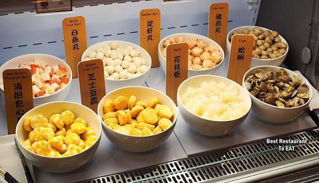 牛摩 Wagyu More Sunway Pyramid Malaysia Buffet Menu - Meatball, seafood
