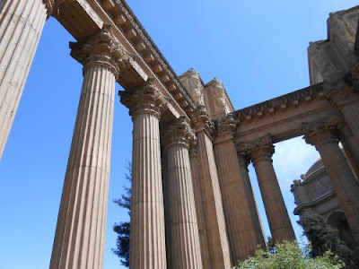 concrete pillars, palace of fine arts, core issues, feeling unwanted, being unwanted
