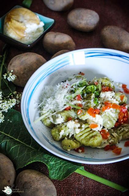 Gnocchi aus grünem Spargel