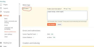 cara menambahkan kata kunci pada blog