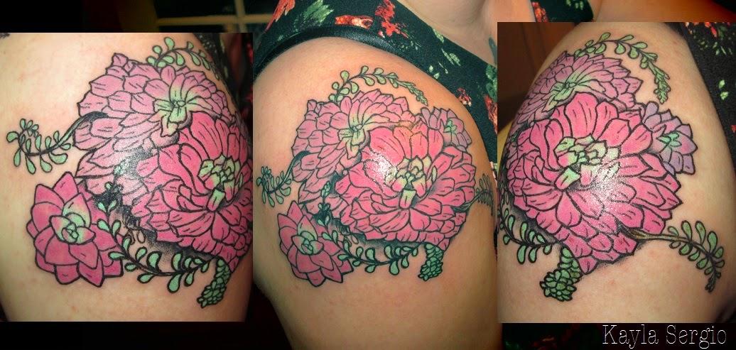 Succulents Tattoo, Botanical Tattoo,