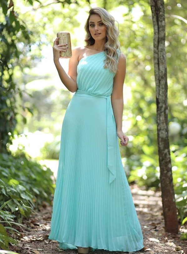 vestido verde madrinha casamento dia