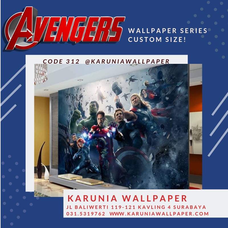 jual wallpaper anak superhero avengers