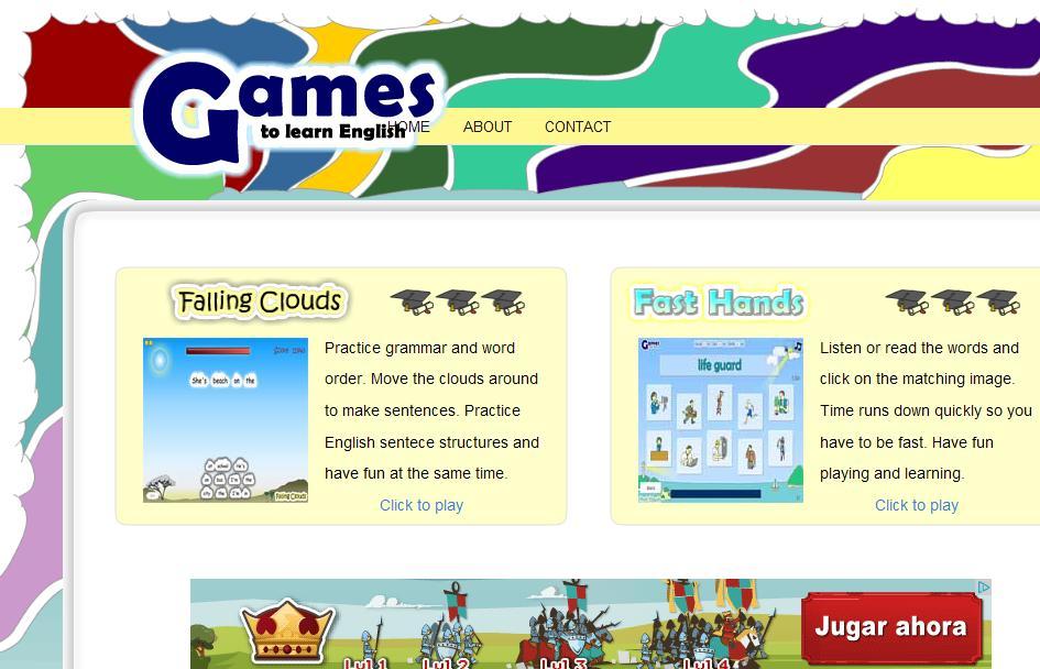 http://gamestolearnenglish.com