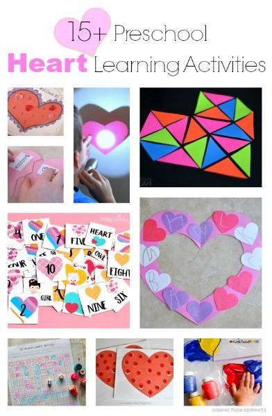 Math, Fine Motor, Literacy Heart Learning Activities for your Preschooler!