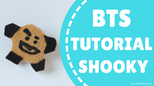 Koori Style, KooriStyle, BTS, BT21, Shooky, Suga, Min Yoongi, Yoongi, Pin, Brooch, Broche, Felt, DIY, Tutorial, Make, Easy, Cute, Kpop, Facil, Fieltro, Plantilla, Printable