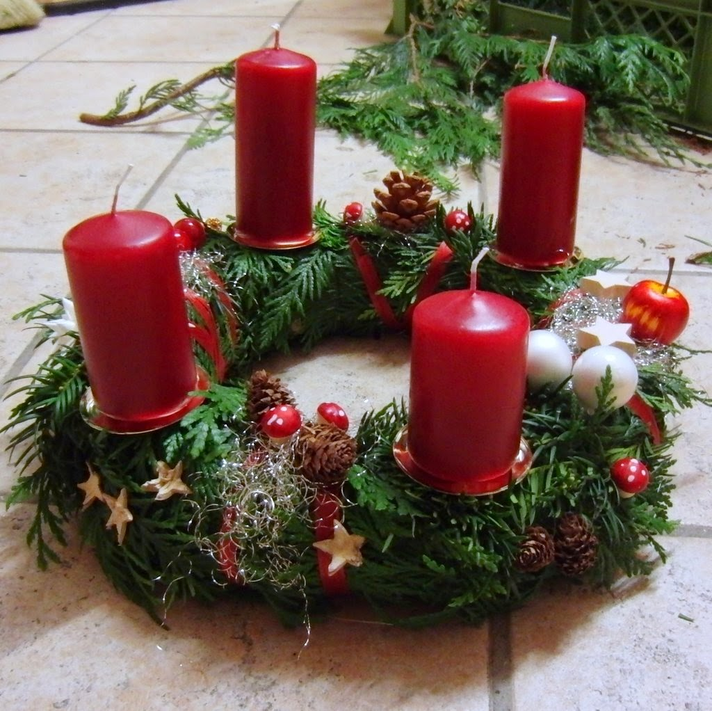Weihnachtsgestecke Im Glas Es Handelt Sich Um Ein