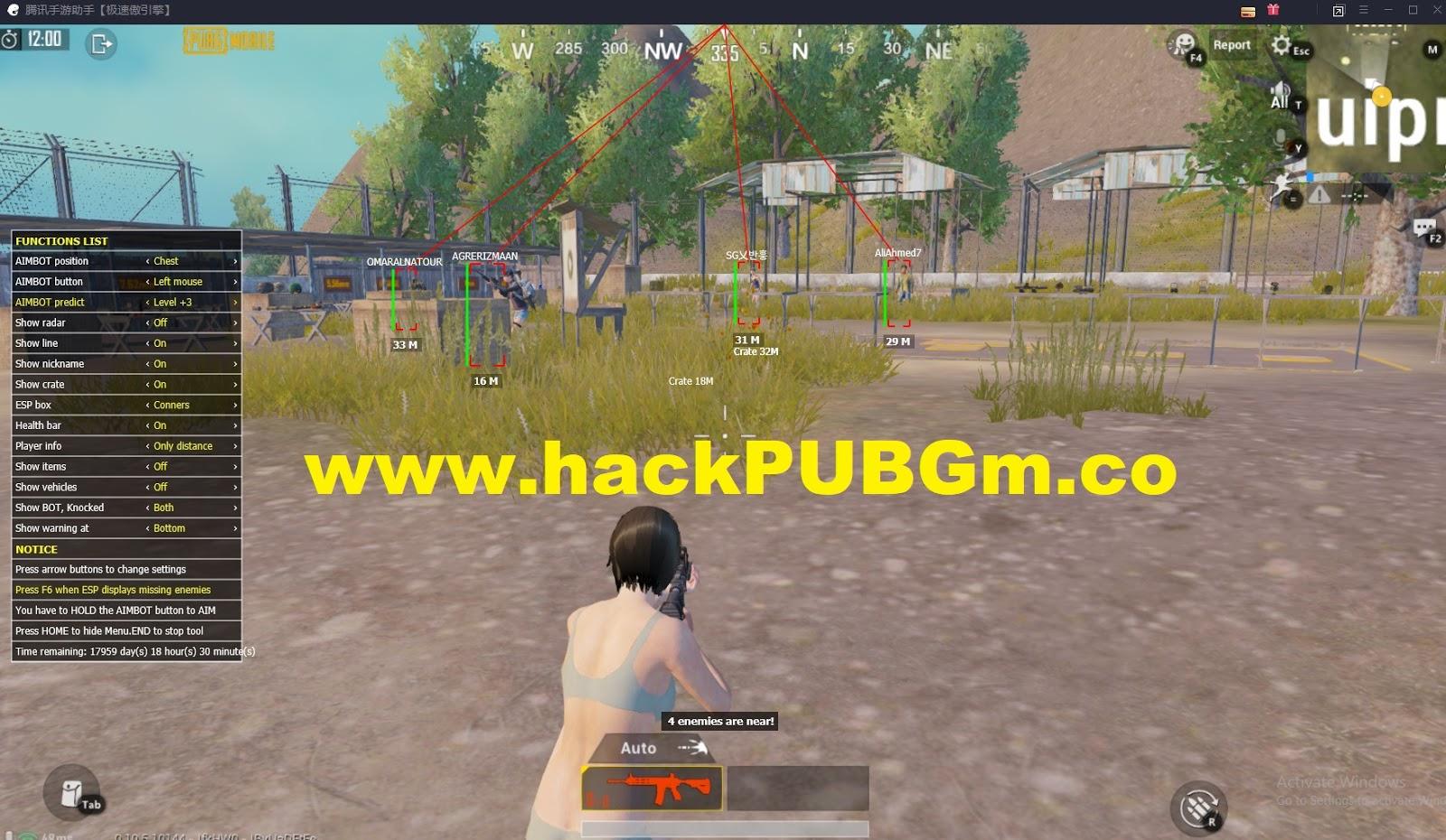 v3 2 - Hack PUBG Mobile PC | Hack PUBG Giả Lập Mới Nhất | Hack Wall