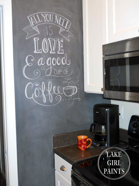 Kitchen Walls with Chalkboard Paint