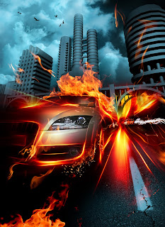 Crash fire car wallpapers for android mobile