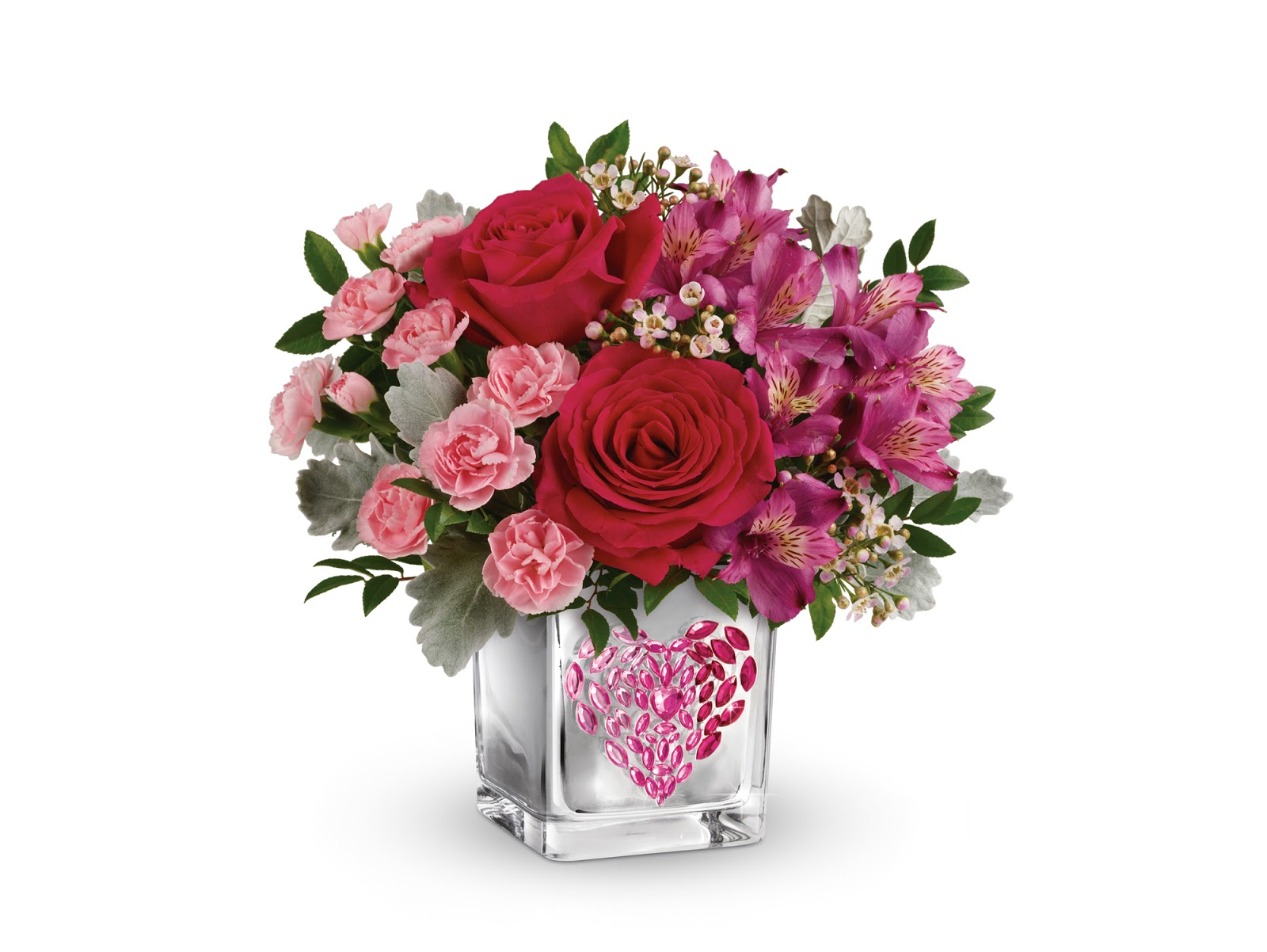 Mail4rosey beautiful bouquets for valentines day from teleflora this valentines day i have ordered a young at heart floral bouquet from teleflora to be delivered to my mom she lives in another state and i dont get izmirmasajfo
