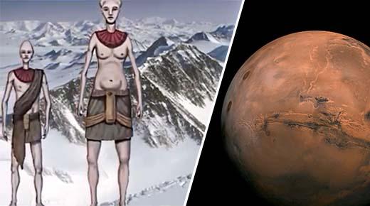 Refugiados marcianos se establecieron en la Antártida hace más de un millón de años, según documento de la CIA