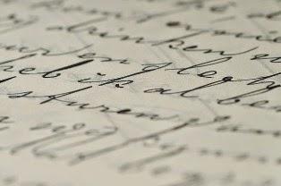 lettera scritta in corsivo