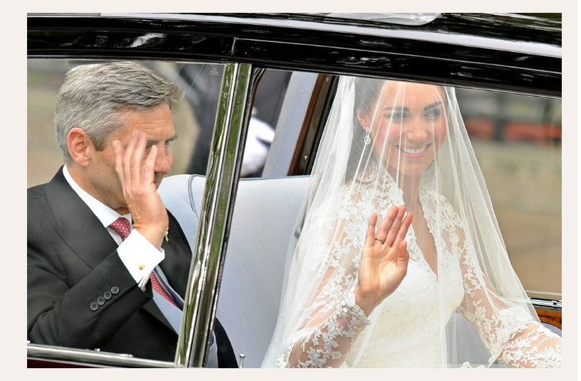 Kate Middleton y su padre, Michael,